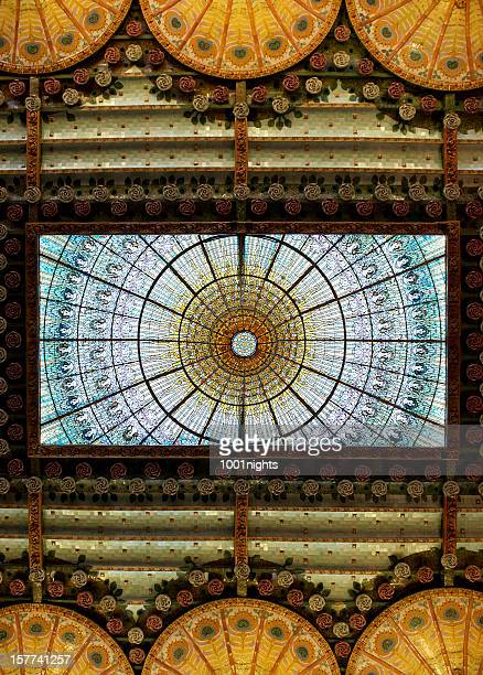 stained glass dome - art deco stock pictures, royalty-free photos & images