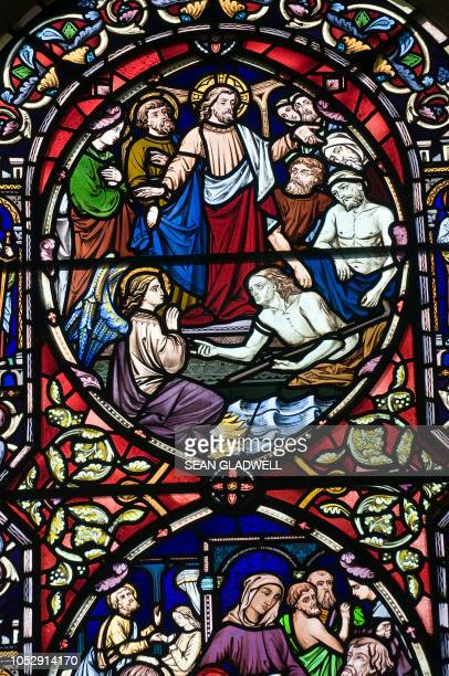 stained glass - dirty easter stock pictures, royalty-free photos & images