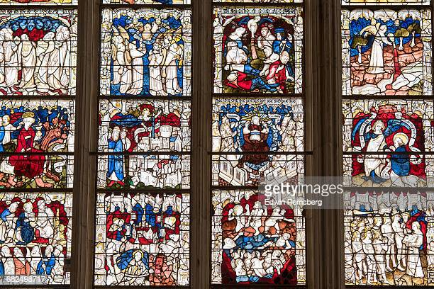 stained glass - york minster stock pictures, royalty-free photos & images