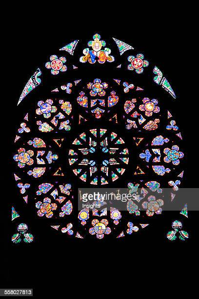 Stained Glass Rose Window With A Scene Of The Last Judgment By Max Svabinsky In St Vitus Cathedral Prague Czech Republic