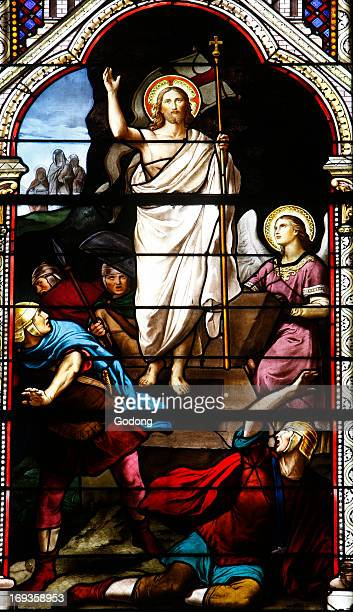 Stained glass the resurrection of Christ