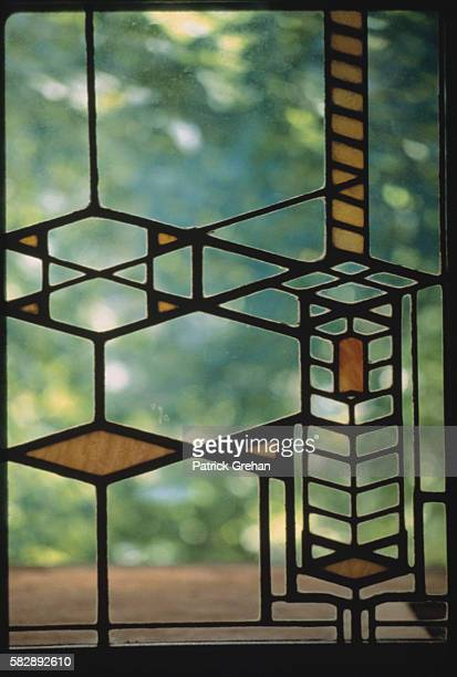Stained Glass Window from the Robie House by Frank Lloyd Wright
