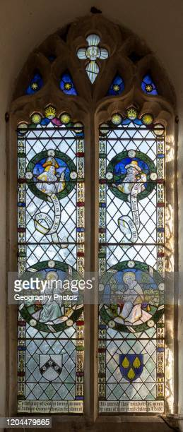 Stained glass window in church of Saint Margaret, South Elmham, Suffolk, England, UK c 1917 possibly by FC Eden.