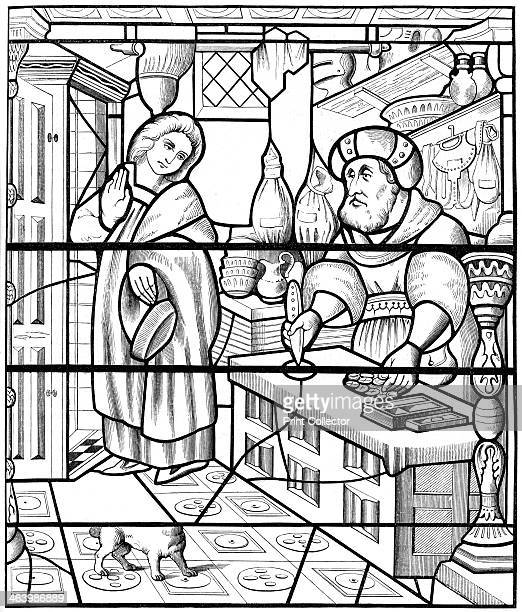 A stained glass window in the church of St Alpin Chalons France 1849 From Le Moyen Age et la Renaissance by Paul Lacroix Ferdinand Séré and A Rivaud...