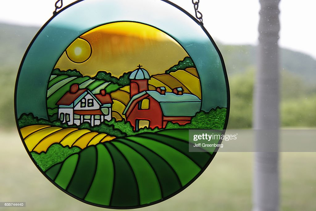 A Stained Glass Window Panel At Country Oaks Bed And Breakfast News Photo Getty Images
