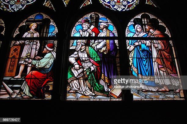 stained glass window - memorial kaiser wilhelm - fotografias e filmes do acervo