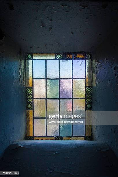 stained glass window - rotten com stock pictures, royalty-free photos & images