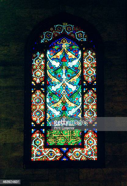 Stained Glass Window Suleymaniye Mosque 1557 Grand mosque in Istanbul Turkey