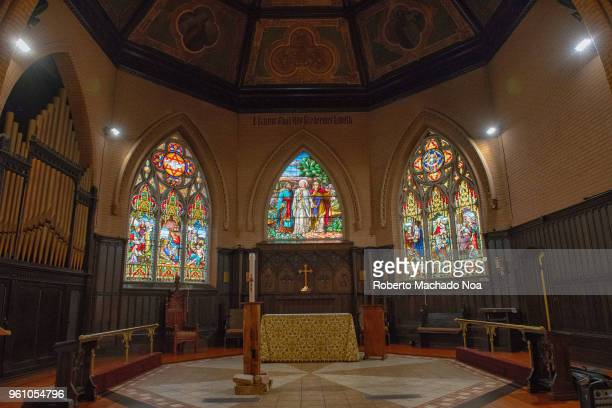 Stained Glass windows in the Church of the Redeemer which is an Anglican church. The small church is prominently located at the intersection of Bloor...