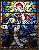 Stained Glass with Rosary