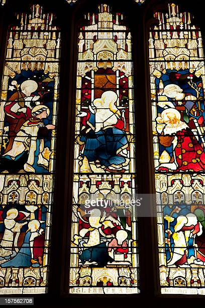 Stained glasses in the Bath Abbey
