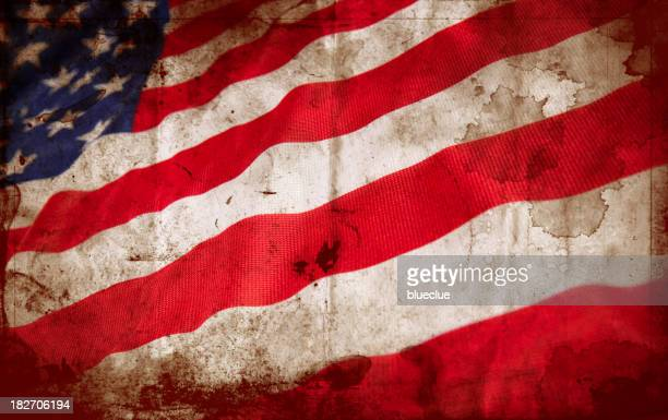 Stained United States flag