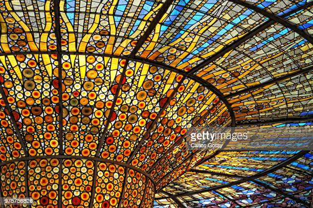 stained-glass ceiling - stained glass stock pictures, royalty-free photos & images