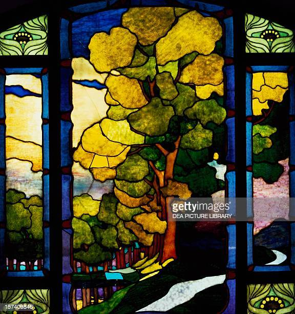 Stainedglass window by Hans Christians manufactured by Engelbrecht Hamburg ca 1898 Germany 20th century Darmstadt Hessisches Landesmuseum