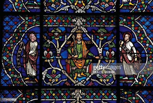 Stainedglass window Canterbury Cathedral England United Kingdom
