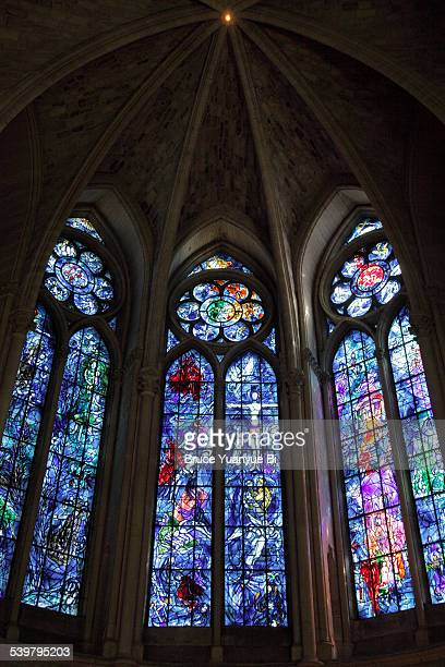 Stained-glass window in Axial chapel