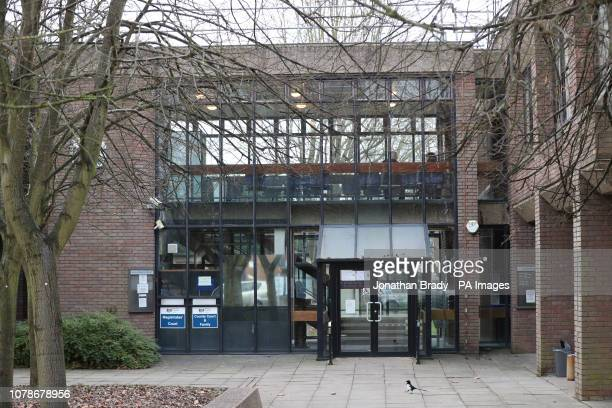 Staines Magistrates' Court where Darren Shane Pencille will appear charged with the murder of Lee Pomeroy on a Londonbound train