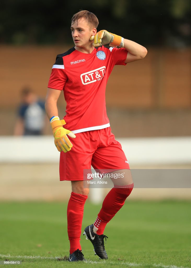 Staines Town goalkeeper Julian Schwarzer during the Pre-Season Friendly between Staines Town and Queens Park Rangers at Wheatsheaf Park on July 13, 2018 in Staines, England.