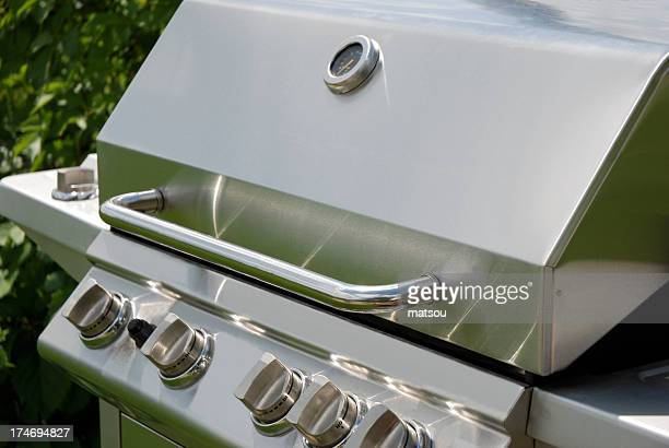 Stainless steel barbecue.