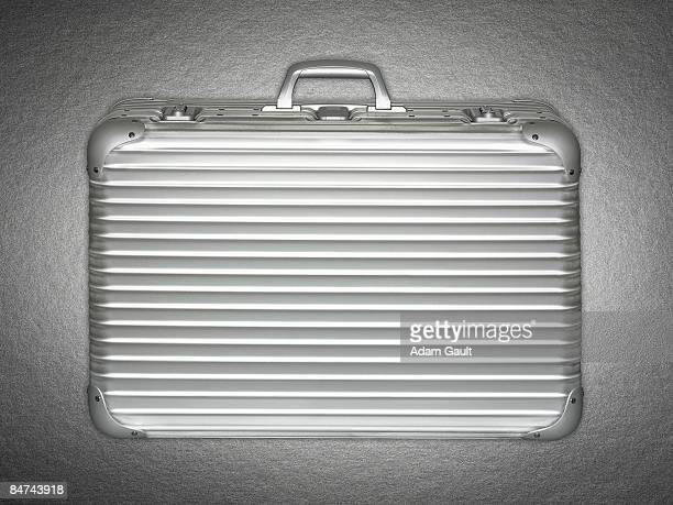 stainless steel briefcase - briefcase stock photos and pictures