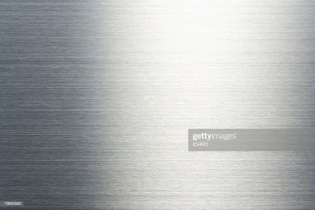 Stainless steel, close-up (full frame) : ストックフォト