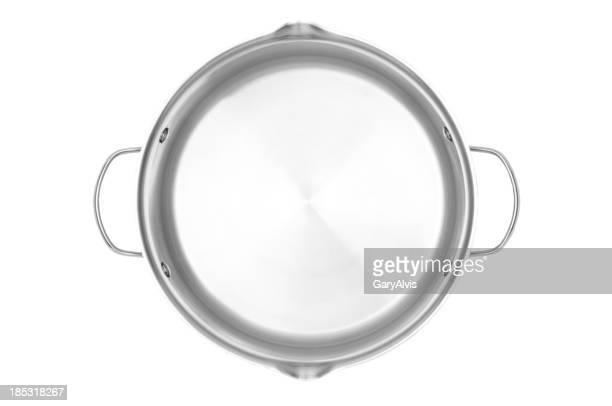 Stainless steel cooking pot with clipping path