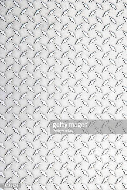 Stainless Steel Diamond Tread Background Silver Full Frame