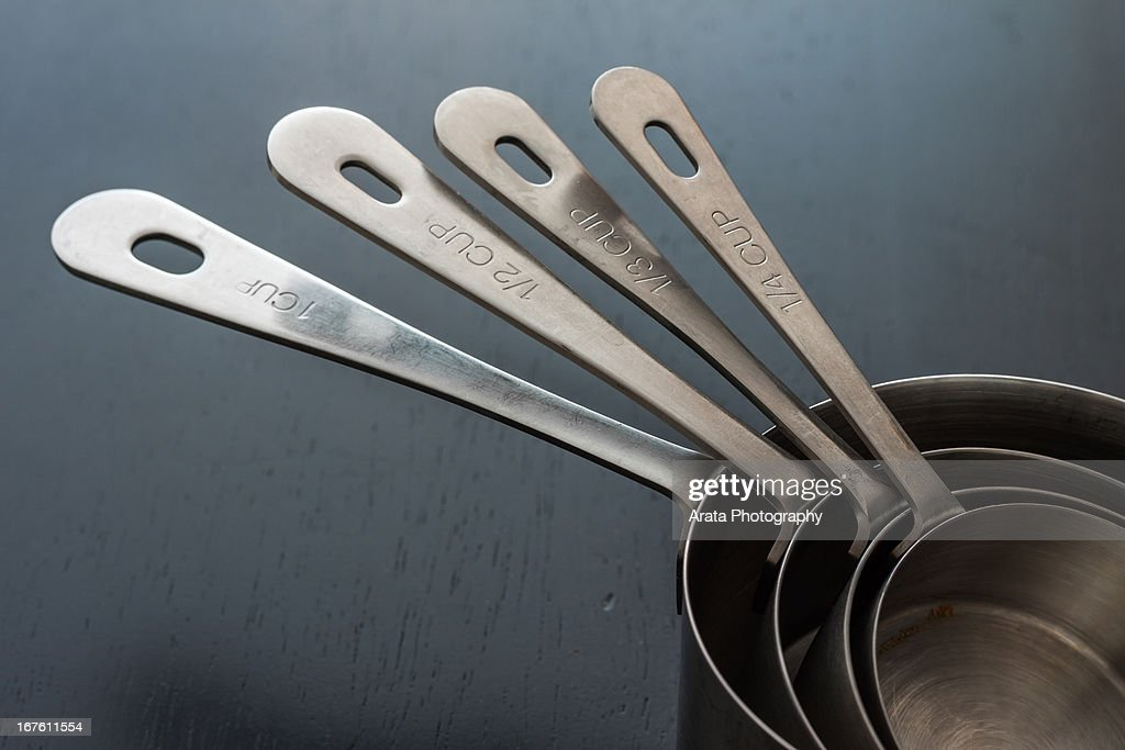 Stainless Steel Measuring Cups : Stock Photo