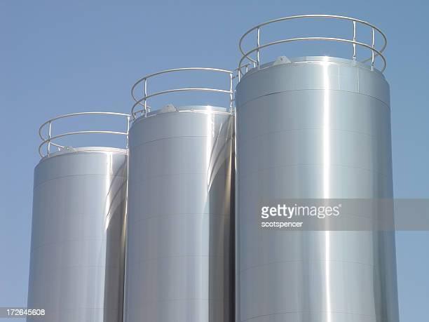 Edelstahl Milch und Tanks