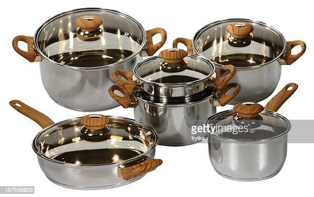 ステンレススチール製の鉢 - 蓋 ストックフォトと画像