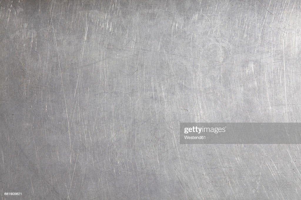 Stainless steel surface, full frame : Stock Photo