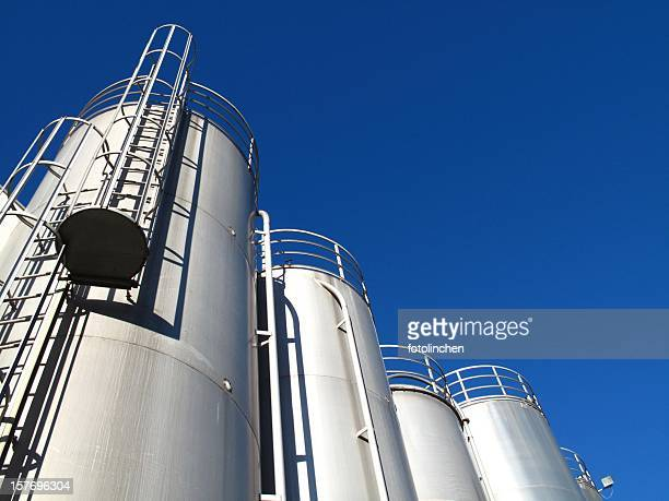 stainless steel tanks - storage tank stock photos and pictures