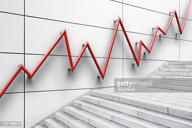 Stair bannister shaped like a graph
