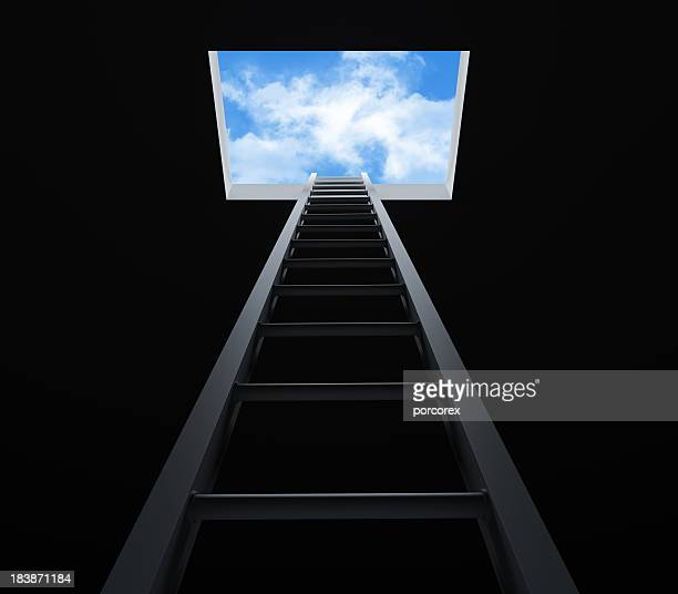 stair moving up - escapism stock photos and pictures
