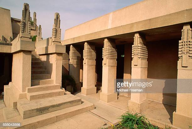 Staircase and Covered Walk at Hollyhock House