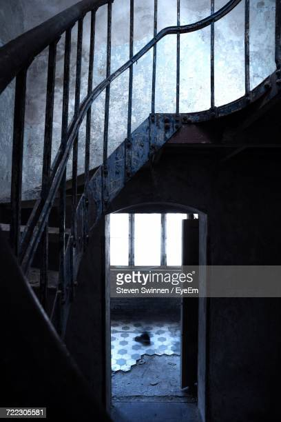 Staircase At Abandoned Building