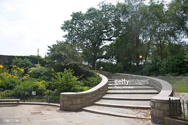 staircase, carl schurz park, upper east side, new york, ny, u.s.a. - wpa stock pictures, royalty-free photos & images