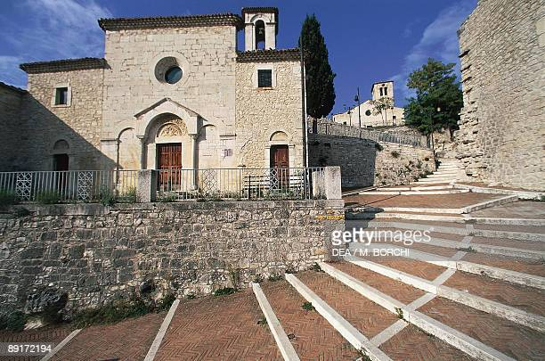 Staircase in front of a church, St. Bartholomew's Church, Campobasso, Molise, Italy