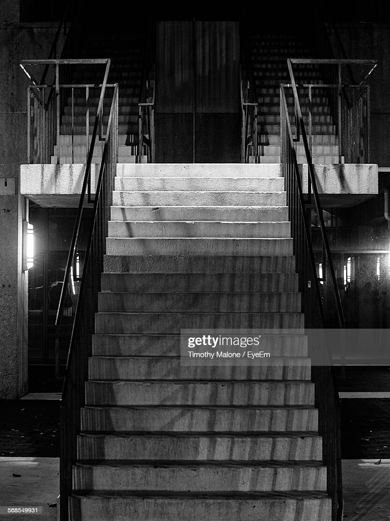 Staircase In Illuminated Building : Stock Photo