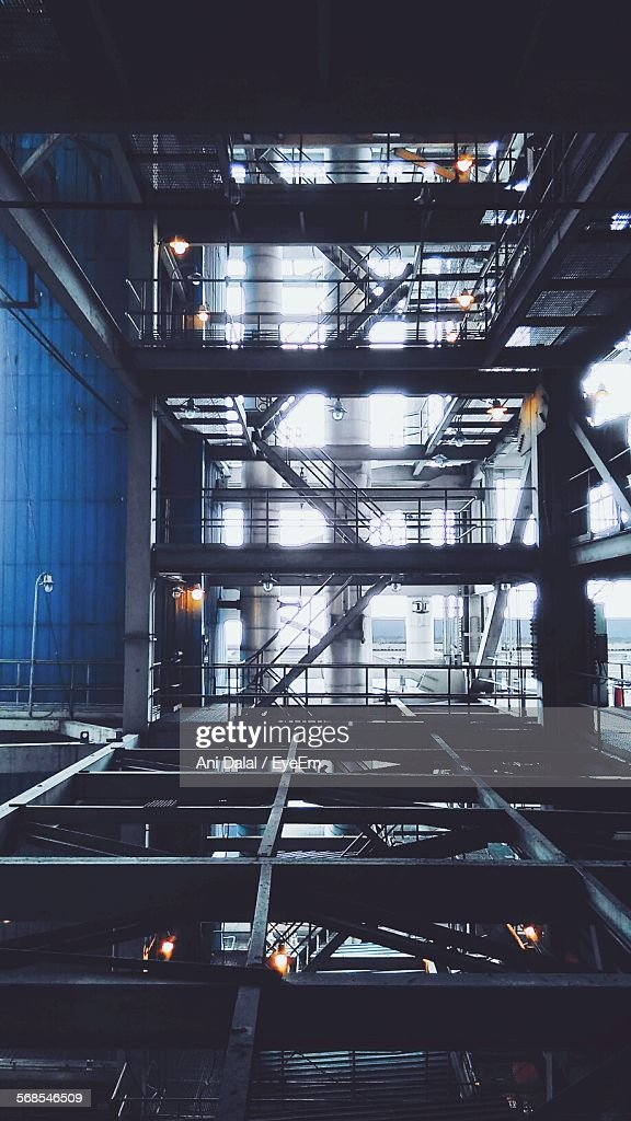 Staircase In Industry : Stock Photo