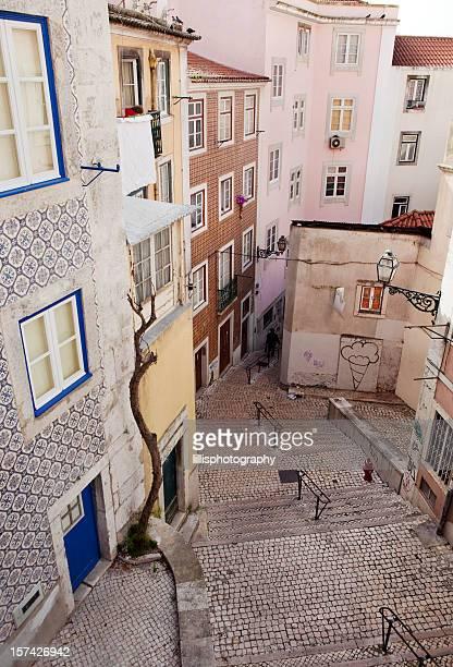 Treppe in Lissabon, Portugal
