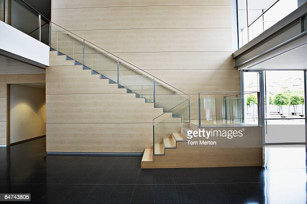 staircase in modern office building - hotel lobby stock pictures, royalty-free photos & images