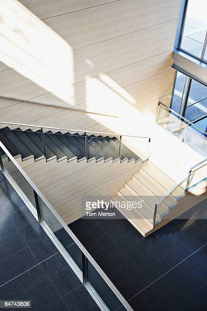 Staircase in modern office building