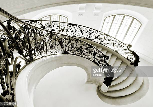 staircase in paris - castle stock pictures, royalty-free photos & images