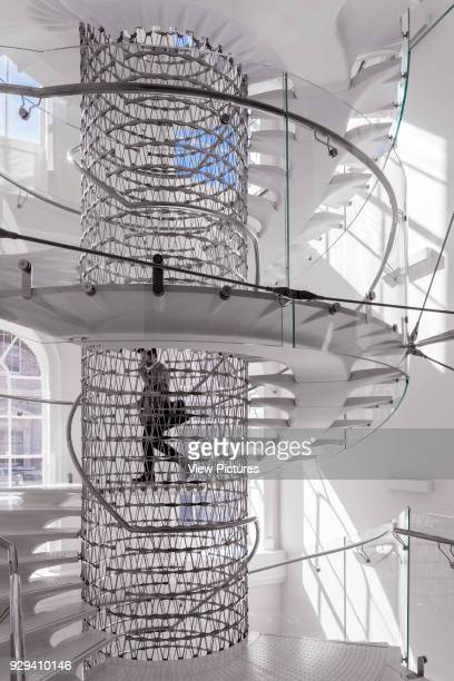 Staircase in Somerset House London United Kingdom Architect Eva Jiricna Architects Ltd 2014 Stair at first floor with person