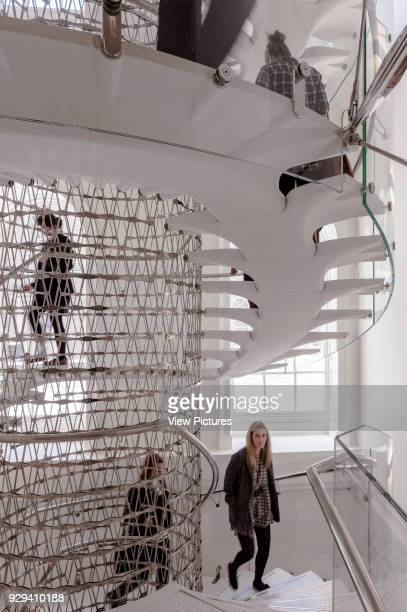 Staircase in Somerset House London United Kingdom Architect Eva Jiricna Architects Ltd 2014 Angle view at 3rd floor