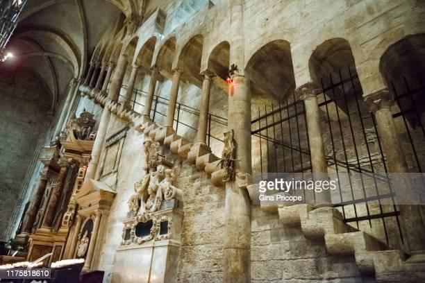 staircase in the church - trento foto e immagini stock