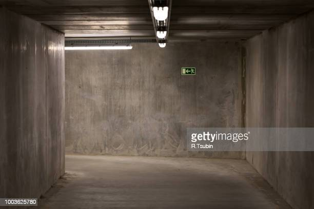 Staircase in underground passage - made from concrete material