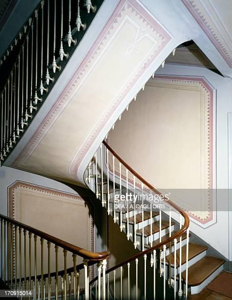Staircase in Villa Garnier 19th century Bordighera Liguria Italy