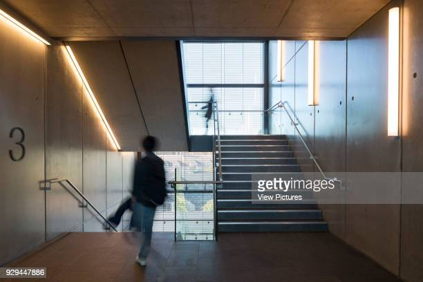 Staircase John Henry Brookes Building Oxford Brookes University Oxford United Kingdom Architect Design Engine Architects Ltd with SpeirsMajor 2014